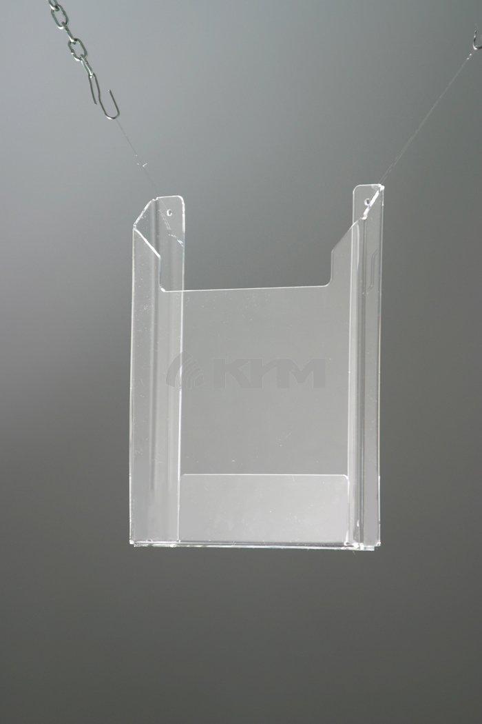 Настенный карман (буклетница) из ударопрочного ПЭТа А5 (объемный), арт.16145/ПЭТ